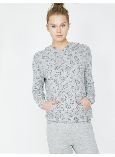 Koton Desenli Pijama Üstü Gri